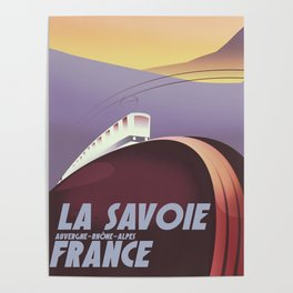 Savoy France train poster Poster