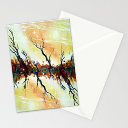 rotating night sky aglow Stationery Cards