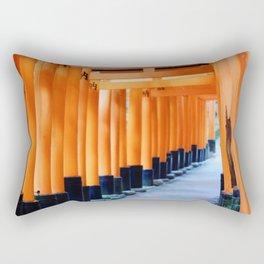 The Orange Torii Gates at Fushimi Inari Taisha, Kyoto Rectangular Pillow