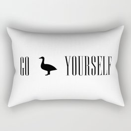 Go Duck Yourself Rectangular Pillow