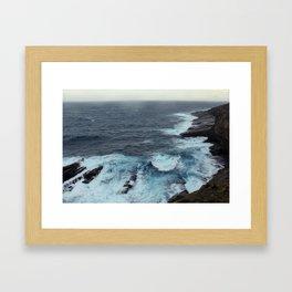 Crashing Waves  Framed Art Print