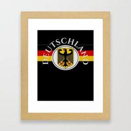 Deutschland ...German Flag and Eagle Framed Art Print