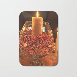 Glass Bowl Candle Decor Bath Mat