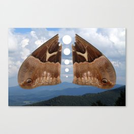 Mountains and Moth Canvas Print
