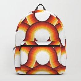 Rollin' Retro Road in Orange Ombre + White Backpack