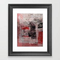misprint 102 Framed Art Print