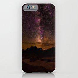 Milky Way over the Badlands South Dekota iPhone Case