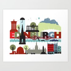 Edinburgh landmarks & monuments  Art Print