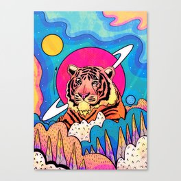 The space tiger Canvas Print