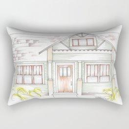 Green Craftsman Rectangular Pillow