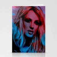 britney Stationery Cards featuring Britney Spears by Nic Moore