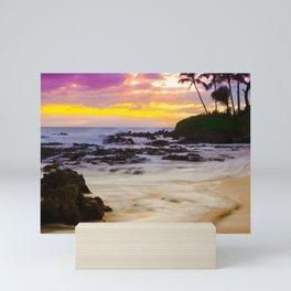 Paako Beach Sunset Jewel Mini Art Print