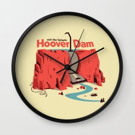 The Hoover Dam Wall Clock