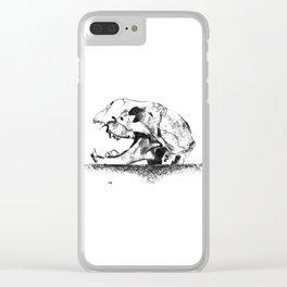 mittens - cat skull Clear iPhone Case