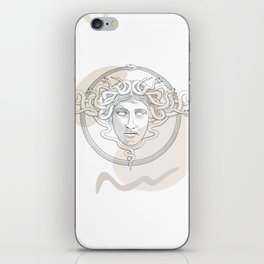 medusa / Classical Greek minimal iPhone Skin