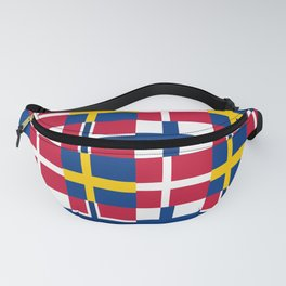 Flags of scandinavia2: finland, denmark,swede,norway Fanny Pack