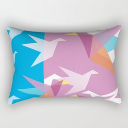 Pastel Paper Cranes Rectangular Pillow
