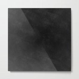 jet black watercolor Metal Print