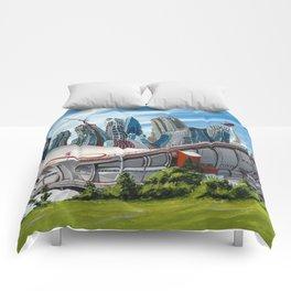 Downtown Calgary Skyline Comforters