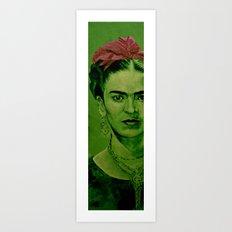 Frida Kahlo - red bow Art Print