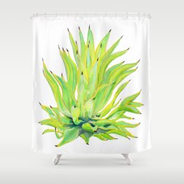 Sunlit Octopus Agave Shower Curtain