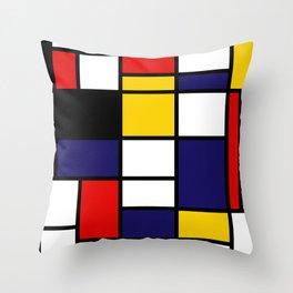 Mondrian De Stijl Modernist Inspired Abstract Art #2 Throw Pillow