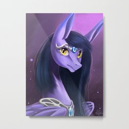 Mythical creature-Ester the thestral Metal Print