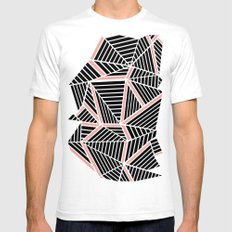 Ab Lines Blush Mens Fitted Tee SMALL White