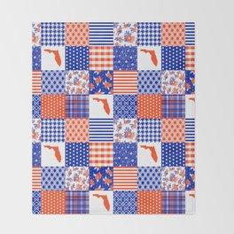 Florida University gators swamp life varsity team spirit college football quilted pattern gifts Throw Blanket