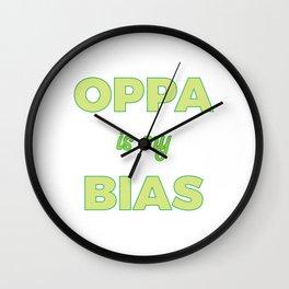 Famous & Fabulous Bias Tshirt Design Oppa is my bias Wall Clock