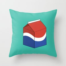 Pepsi in a box Throw Pillow