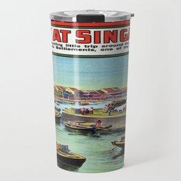 Vintage poster - Singapore Travel Mug