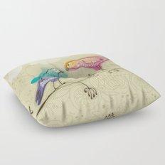 couple of beautiful love birds Floor Pillow