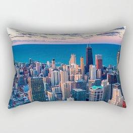 City Skyline Rectangular Pillow
