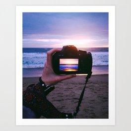 Photographing Sunset Art Print