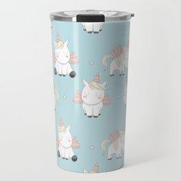 Pegacorn - Mint Blue Travel Mug
