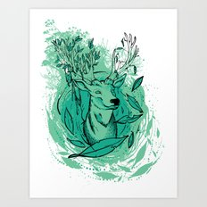 THE WOODS WHERE YOU LIVE. Art Print
