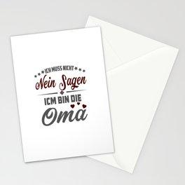 Damen Ich Muss Nicht Nein Sagen Ich Bin Die Oma Lustiges Stationery Cards