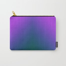 Plush Peacock Ombre Carry-All Pouch