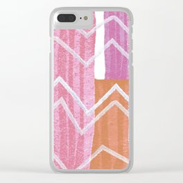 Painted Zig-Zag Clear iPhone Case