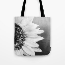 B&W Sunflower Tote Bag