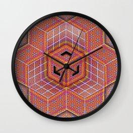 Flower of Life Tesseract Wall Clock