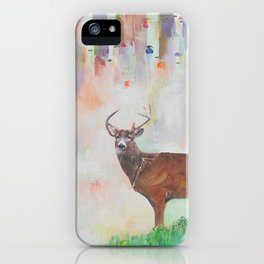 The relationship between a bear and a deer iPhone Case