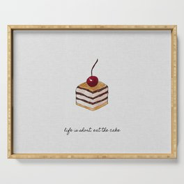 Life Is Short, Dessert Quote Serving Tray