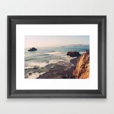 Vintage Ocean #landscape Framed Art Print