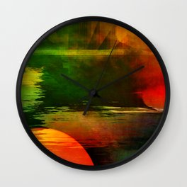 Multicolored abstract 2016 / 003 Wall Clock