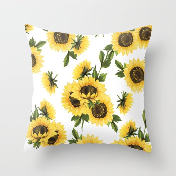 Lovely Sunflower Throw Pillow