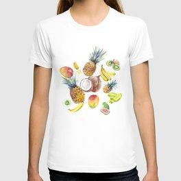 Tropical Fruits, Pina Colada, Fruit Punch tropical design T-shirt