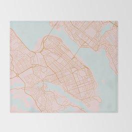 Halifax map, Canada Throw Blanket