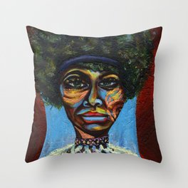 "Eunice ""Nina Simone"" Waymon Throw Pillow"